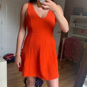 Maeve by Anthropologie Coral Tank Open Back Dress
